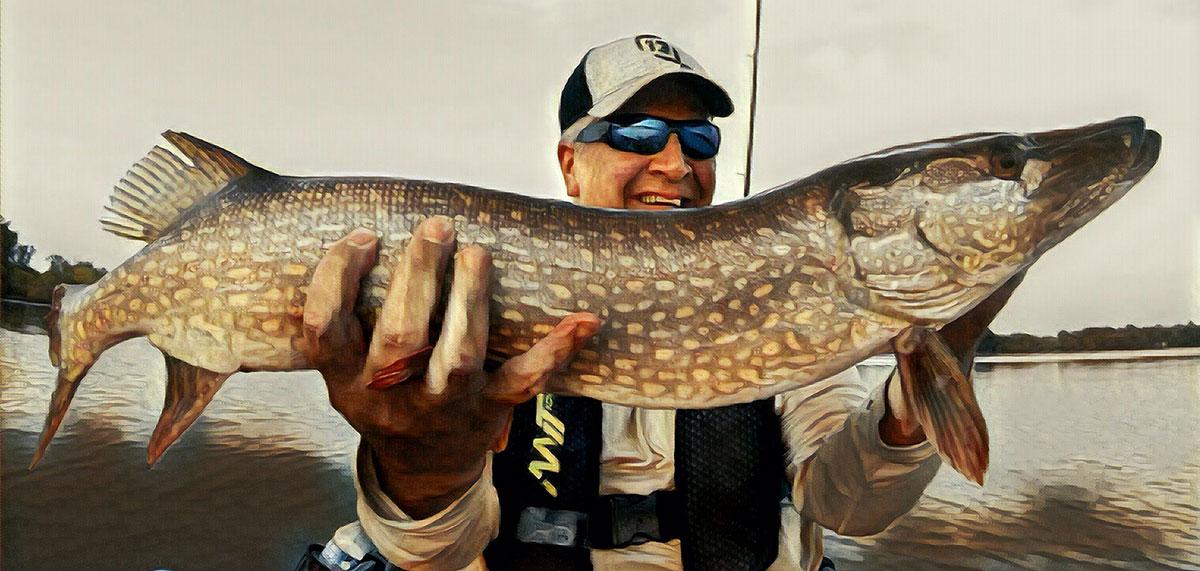 Peltier Lake Kayak Fishing Big Pike